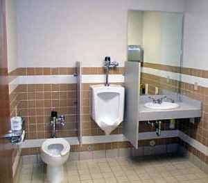 commercial bathroom plumbing
