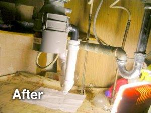 after sink plumbing disposal