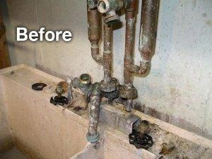 before plumbing