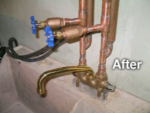 after plumbing install