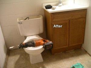 after bath install