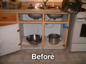 before sink install