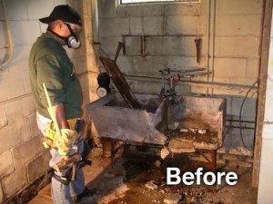 garage sink before photo