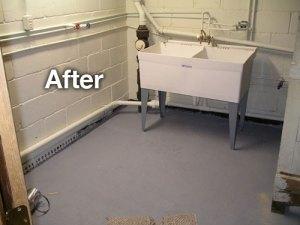 after garage sink install