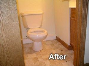 after bathroom photo
