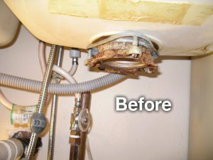 Before plumbing photo